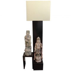 William Billy Haines Floor Lamp with Oriental Statues Attributed to Billy Haines  - 1198258