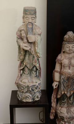William Billy Haines Floor Lamp with Oriental Statues Attributed to Billy Haines  - 1198259