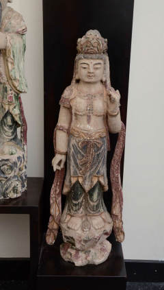 William Billy Haines Floor Lamp with Oriental Statues Attributed to Billy Haines  - 1198260