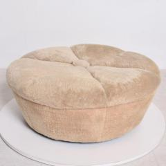 William Billy Haines Hollywood Regency Round Bench Ottoman After Billy Haynes - 1170464