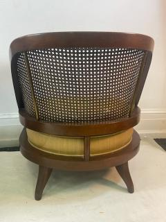 William Billy Haines MID CENTURY PAIR OF CANE WOOD AND BRASS CHAIRS IN THE MANNER OF BILLY HAINES - 2046940