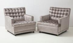 William Billy Haines Pair Of Biscuit Tufted Club Chairs Attributed to Billy Haines  - 1247041