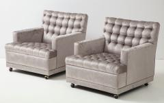 William Billy Haines Pair Of Biscuit Tufted Club Chairs Attributed to Billy Haines  - 1247044