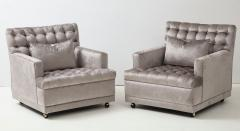 William Billy Haines Pair Of Biscuit Tufted Club Chairs Attributed to Billy Haines  - 1247046
