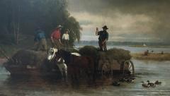 William Carl Wilhelm Hahn Gathering Sedge Shewsbury River New York - 1584162