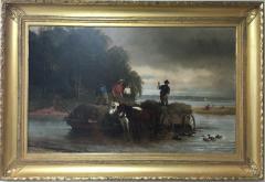 William Carl Wilhelm Hahn Gathering Sedge Shewsbury River New York - 1584164