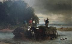 William Carl Wilhelm Hahn Gathering Sedge Shewsbury River New York - 1620051