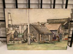 William Douglas Prizer POIGNANT 1940s MARINA WATERCOLOR BY WILLIAM DOUGLAS PRIZER - 1448501