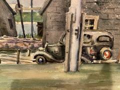 William Douglas Prizer POIGNANT 1940s MARINA WATERCOLOR BY WILLIAM DOUGLAS PRIZER - 1448502
