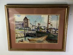 William Douglas Prizer POIGNANT 1940s MARINA WATERCOLOR BY WILLIAM DOUGLAS PRIZER - 1448506