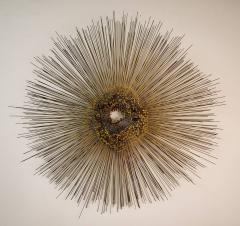 William Friedle Large Metal Sunburst Wall Sculpture by Friedle - 1441602
