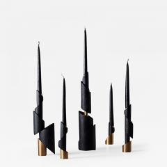 William Guillon ASHES TO ASHES SET 5 Set of 5 candleholders - 2049012
