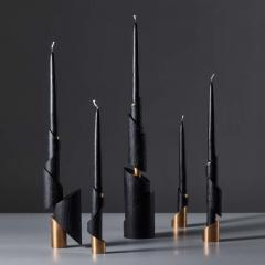 William Guillon ASHES TO ASHES SET N 5 Five Candlesticks - 994698