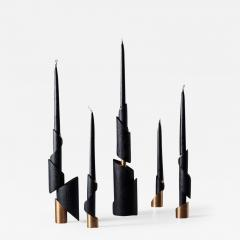 William Guillon ASHES TO ASHES SET N 5 Five Candlesticks - 996628