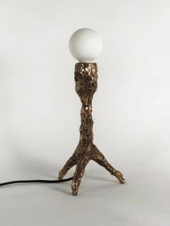William Guillon Unique Bronze Sculptural Table Lamp Signed by William Guillon - 1315222