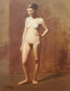 William H C Sheppard Academic Nude Oil Painting Signed by William H C Sheppard and Dated 1890 91 - 1183957