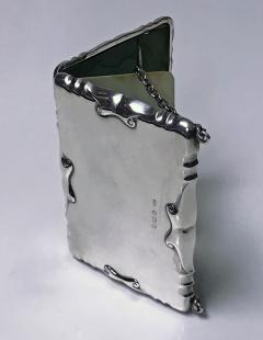 William Haseler Silver Card Case Aide Memoire Purse Birmingham 1908 William Haseler - 1549750