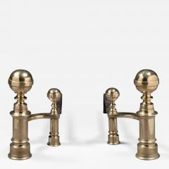 William Hunneman Pair of Ball Top Andirons Made by William Hunneman - 246846