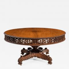 William IV Colonial padouk five foot round table - 1325661