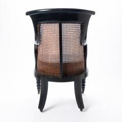 William IV mahogany frame gondola chair - 1729749