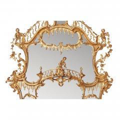 William IV period giltwood overmantle antique English mirror - 1942680
