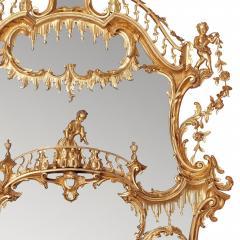 William IV period giltwood overmantle antique English mirror - 1942685