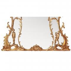 William IV period giltwood overmantle antique English mirror - 1942689