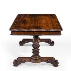 William IV rosewood partners library table by Gillows - 1397843