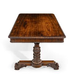 William IV rosewood partners library table by Gillows - 1397844
