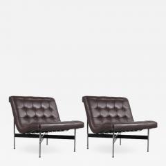 William Katavolos Pair of William Katavolos Lounge Chairs for ICF Milano Italy 1990 - 793414