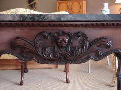 William Kent George II III mahogany marble topped large pier table in Kent style - 2075245