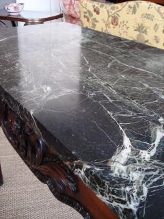 William Kent George II III mahogany marble topped large pier table in Kent style - 2075259