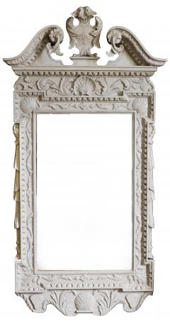 William Kent Pair of 18th Century George II Grey Painted Tablet Mirrors in the Manner of Kent - 666398