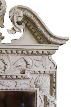 William Kent Pair of 18th Century George II Grey Painted Tablet Mirrors in the Manner of Kent - 666399