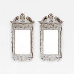 William Kent Pair of 18th Century George II Grey Painted Tablet Mirrors in the Manner of Kent - 666712