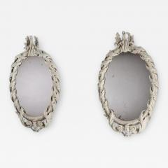 William Kent Rare Pair of Early Georgian Kentian Period White Decorated Mirrors - 1138203