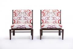 William Pahlmann WILLIAM PAHLMANN THEBES CHAIRS WITH SNAKE FABRIC CIRCA 1964 - 1921867