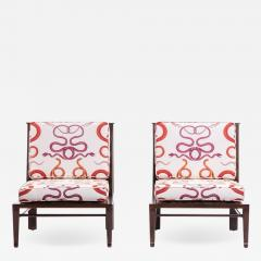 William Pahlmann WILLIAM PAHLMANN THEBES CHAIRS WITH SNAKE FABRIC CIRCA 1964 - 1923730