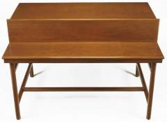 William Pahlmann William Pahlmann Four Drawer Walnut Desk with Integral Bookshelf - 279111