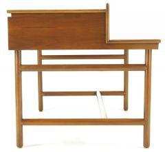 William Pahlmann William Pahlmann Four Drawer Walnut Desk with Integral Bookshelf - 279112