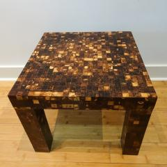 William Piedrahita Pair of Coconut Shell Inlaid side tables - 1038689