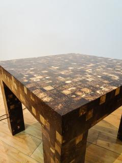 William Piedrahita Pair of Coconut Shell Inlaid side tables - 1038691