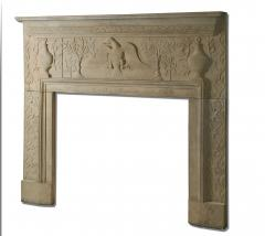 William Roberts Signed and Dated Sandstone Mantel - 287842