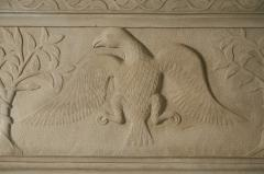 William Roberts Signed and Dated Sandstone Mantel - 287843
