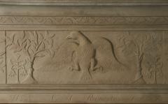 William Roberts Signed and Dated Sandstone Mantel - 287844