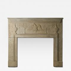 William Roberts Signed and Dated Sandstone Mantel - 287866