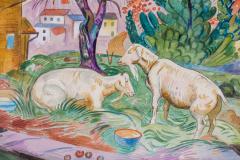 William Sommer Brandywine Landscape With Goats - 870110