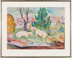 William Sommer Brandywine Landscape With Goats - 870111