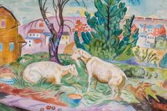 William Sommer Brandywine Landscape With Goats - 870112