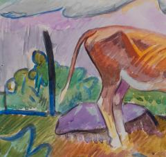 William Sommer Cow in Landscape - 870120